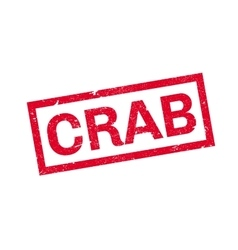 Crab rubber stamp vector