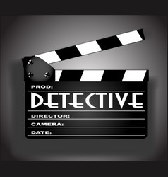 Detective movie vector