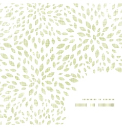 Green leaves explosion textile texture frame vector