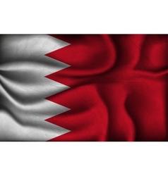 Crumpled flag of bahrain on a light background vector