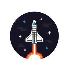 464rocket launch vector image