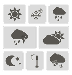 Monochrome weather icons vector