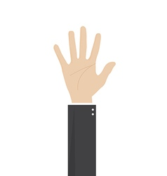 hand of businessman vector image