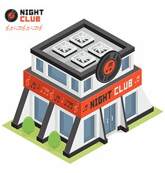 Night club building vector