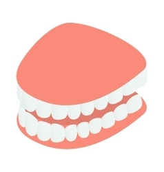 Dental jaw model icon isometric 3d style vector