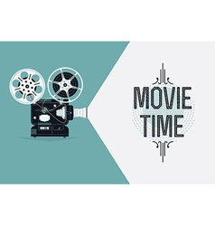 Movie projector banner vector