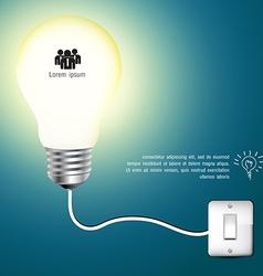 Business Infographics light bulb idea vector image vector image