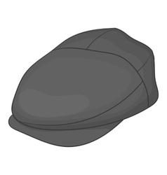 Cap driver icon gray monochrome style vector