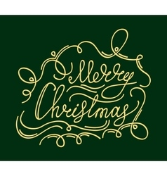 Christmas card with calligraphy decoration vector image