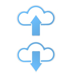 Cloud data Upload vector image vector image