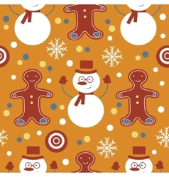 Cute colorful seamless pattern with frosties and vector image vector image