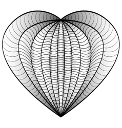 Decorative love heart coloring book for adult and vector