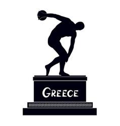 Greek famous statue discobolus ancient greece vector