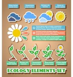 Green eco infographic elements vector