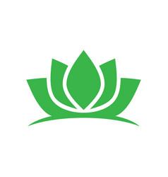 green lotus spa meditation logo vector image vector image