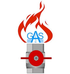 Icon gas industry 3 vector image