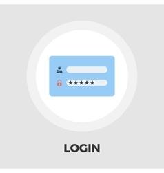 Login flat icon vector