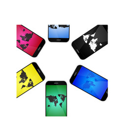 mobile screens designs isolated vector image