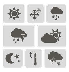 Monochrome weather icons vector
