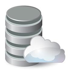 Network data server 3d cloud computing concept vector image