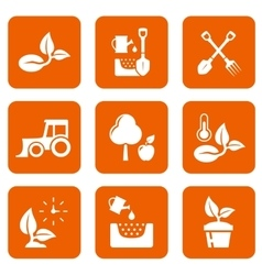 nine agriculture icons vector image vector image