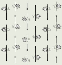 Old clock street seamless pattern vector
