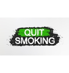 Quit smoking graffiti sign vector