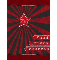 Red Star - Special Menu vector image vector image