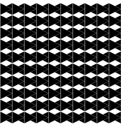Rhombus white and black seamless pattern vector image vector image