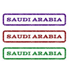 saudi arabia watermark stamp vector image vector image