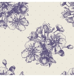 Seamless pattern with decorative magnolias flowers vector image