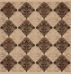 seamless pattern with rhombus and swirls vector image vector image