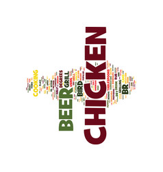 The almighty beer can chicken text background vector