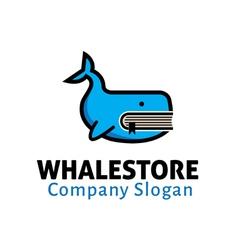 Whale store design vector
