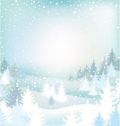 Winter landscape with trees vector image vector image