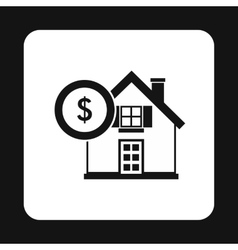 Buying a home icon simple style vector