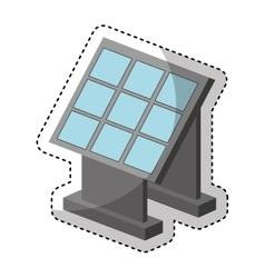 Panel solar isolated icon vector