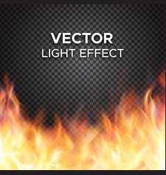 Fire flames on transparent background vector