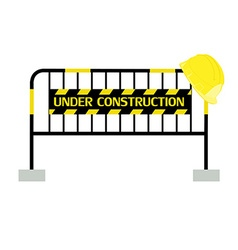 Barrier under construction vector