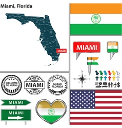 Miami florida set vector