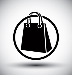 Shopping bag simple single color icon vector