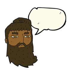 Cartoon bearded man with speech bubble vector