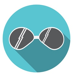 Flat design modern of sunglasses icon with long vector