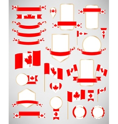 Canadian flag decoration elements vector