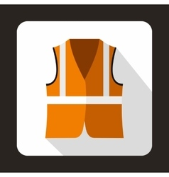 Orange vest icon flat style vector