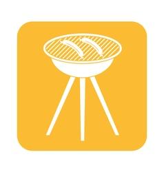 Barbecue sausage icon vector
