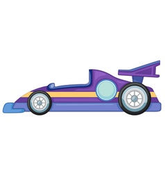 a purple car vector image vector image