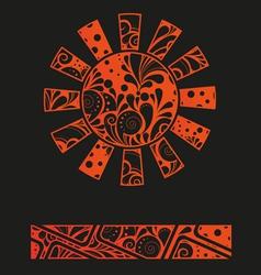 Abstract graffiti sun design template or backgroun vector image vector image