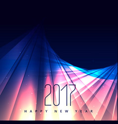 Abstract shiny background for 2017 happy new year vector