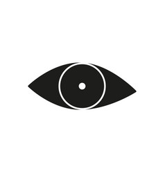black eye view icon vector image vector image